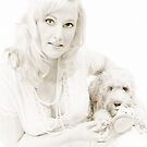 Ruby the Spoodle & Mum Victoria - Shh Vintage Fade Print - 2009©shhevaun.com by Shevaun Steffens