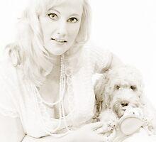 Ruby the Spoodle & Mum Victoria - Shh Vintage Fade Print - 2009©shhevaun.com by Shevaun  Shh!