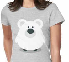 Cute Polar Bear Womens Fitted T-Shirt