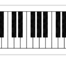 Piano Keys in the Key of Me! Sticker