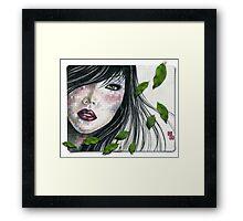she wears spring in her hair... Framed Print