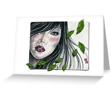 she wears spring in her hair... Greeting Card