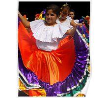 Folkloric Dancers Poster