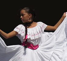 Folkloric Dancer, Ciudad Colon, Costa Rica by Guy Tschiderer