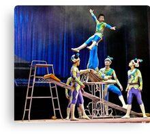 Beijing Acrobats 4 Canvas Print