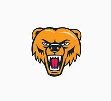 Grizzly Bear Angry Head Cartoon Unisex T-Shirt