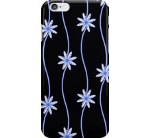 Blue Daisy Chain Floral Pattern iPhone Case/Skin