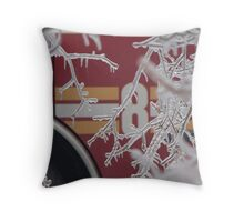 At work in ice Throw Pillow