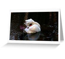 Swan in shambles Greeting Card