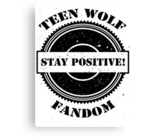 teen wolf fandom Canvas Print