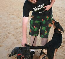 10. Chris with his English Staffy by Cathie Brooker