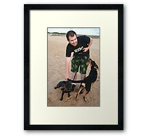 10. Chris with his English Staffy Framed Print
