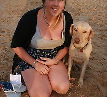 11. Jen with Kelpie-Lab by Cathie Brooker