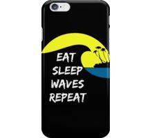 Eat sleep waves surf repeat iPhone Case/Skin