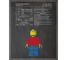 Lego Man Patent Photographic Print