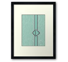 1920s Blue Deco Swing with Monogram letter L Framed Print