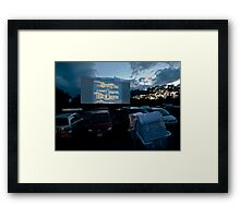 Drive-In Movie Theater (Wellfleet, Cape Cod) Framed Print