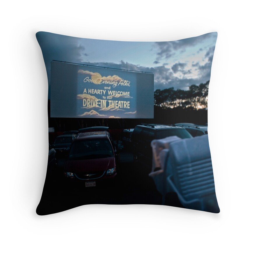 """Drive-In Movie Theater (Wellfleet, Cape Cod)"" Throw"