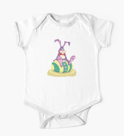 Bunny with Easter Egg One Piece - Short Sleeve