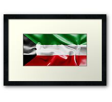 Kuwait Flag Framed Print
