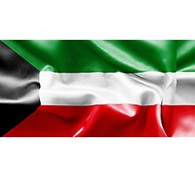 Kuwait Flag Photographic Print