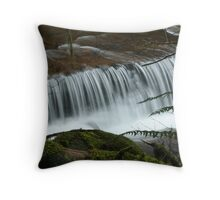 Sweet Creek Ledge Falls Throw Pillow