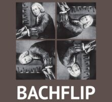 Bachflip (White text) by dattshirtguy
