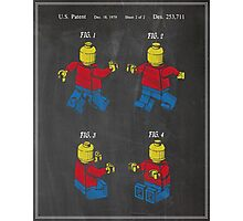 Lego Man Patent Photographic Print