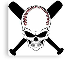 Baseball Jolly Roger Canvas Print