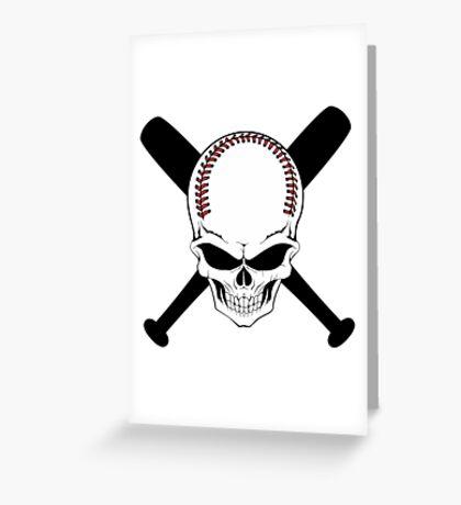 Baseball Jolly Roger Greeting Card