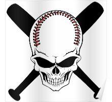 Baseball Jolly Roger Poster