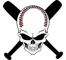 Baseball Jolly Roger Photographic Print