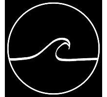 Minimal Wave - Black Photographic Print