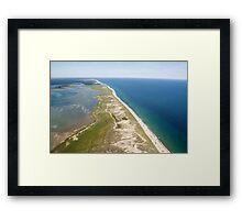 Nauset Beach Aerial Photo (Orleans, Cape Cod) Framed Print