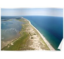 Nauset Beach Aerial Photo (Orleans, Cape Cod) Poster