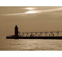 South Haven Light House at Dusk Photographic Print
