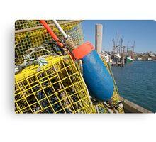 Menemsha Harbor Lobster Trap, Martha's Vineyard Metal Print