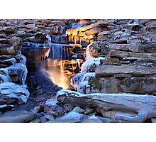 Ice Falls Photographic Print