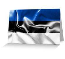 Estonia Flag Greeting Card