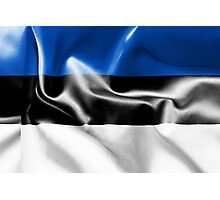 Estonia Flag Photographic Print