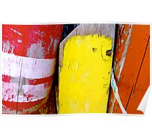 Cape Cod Lobster Buoys Poster