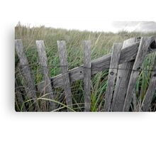 Cape Cod Snow Fence Canvas Print