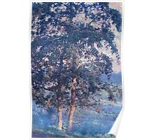 Blue Trees. Monet Style Poster