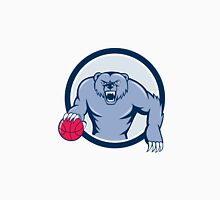 Grizzly Bear Angry Dribbling Basketball Cartoon Unisex T-Shirt