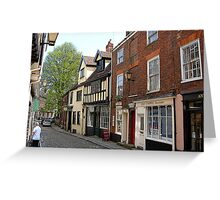 Elm hill street in Norwich Greeting Card