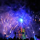 Disneyland Paris Castle Fireworks  by Lewkeisthename