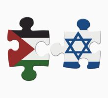 Israel and Palestine Conflict Flag Puzzle Kids Clothes