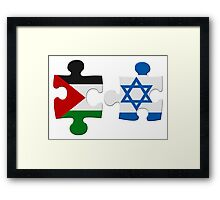 Israel and Palestine Conflict Flag Puzzle Framed Print