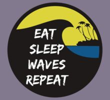 Eat sleep waves repeat Kids Clothes