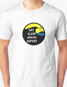 Eat sleep waves surf repeat T-Shirt